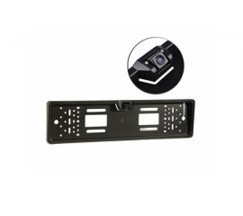 Rear view camera with number frame