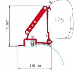 Adapter for awning F45s