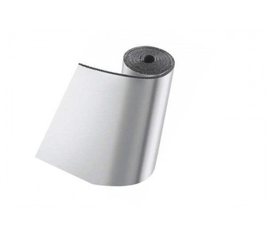 Self-adhesive insulation with aluminum cover